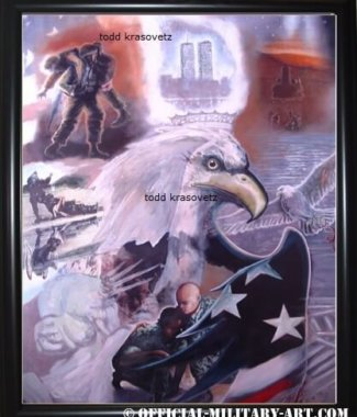 911 Art New American Pride by Artist todd krasovetz