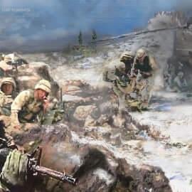 Battle-at-Roberts-Ridge-Oil -on-Canvas-Artist-Todd-Krasovetz-Oil-Painting
