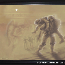 """""""Savior in A Storm """" original painting by Artist Todd Krasovetz now hangs at the Johnson Medical Center at MCRD in San Diego, CA."""
