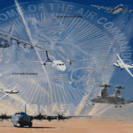"""""""Superior Support """" original painting by Artist Todd Krasovetz now hangs at Cannon Air Force Base in New Mexico."""