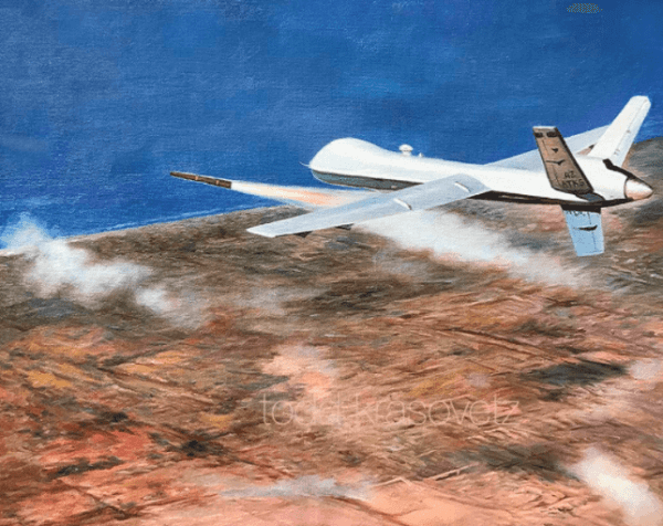 """""""MQ9 Reaper over Sirte"""" only 200 prints available call 1.619.490.9985 to order!"""