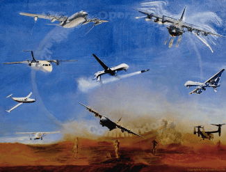 US Air Force Elite Enagement Painting By Todd Krasovetz