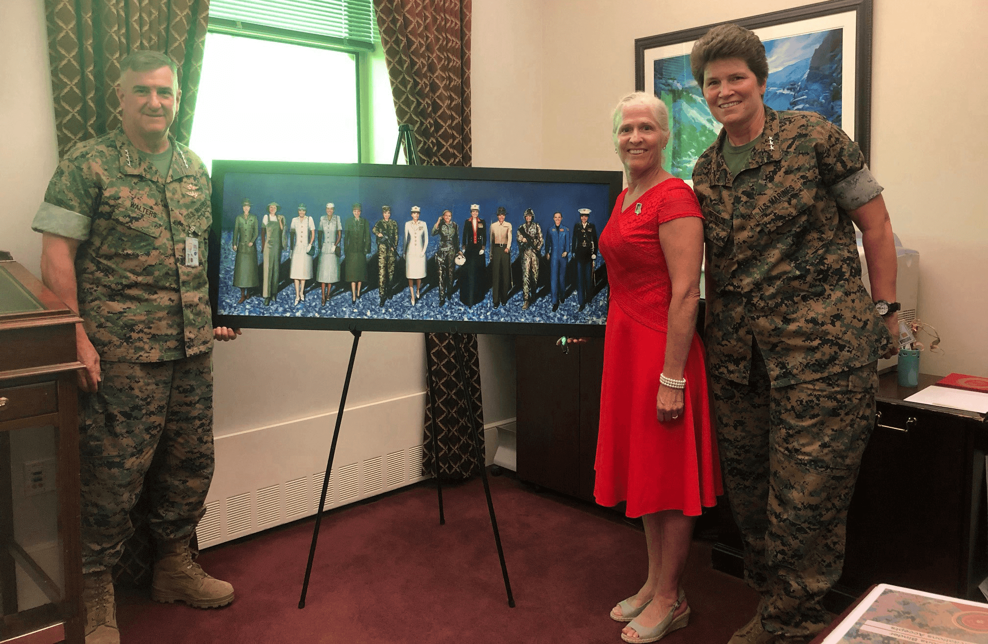 "VETERANS DAY: ""Semper Fi Sisters"" painting honors Marine Corp women Military Portraits by Todd Krasovetz"